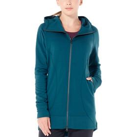 Icebreaker Dia Long Hooded Jacket Women Kingfisher